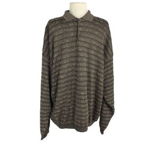 St Croix Knits XL Wool Blend Texture Sweater Brown